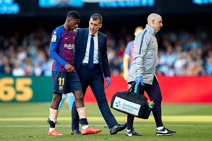 Chấn thương phức tạp, Dembele nguy cơ lỡ trận tái đấu Liverpool