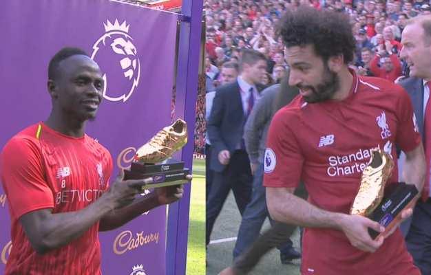 Vua phá lưới Ngoại hạng Anh 2018/19: Salah, Aubameyang, Mane chia giải thưởng