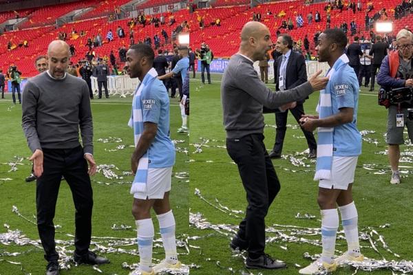 Sterling lập cú đúp vẫn không đủ thoả mãn Guardiola trong trận chung kết cúp FA