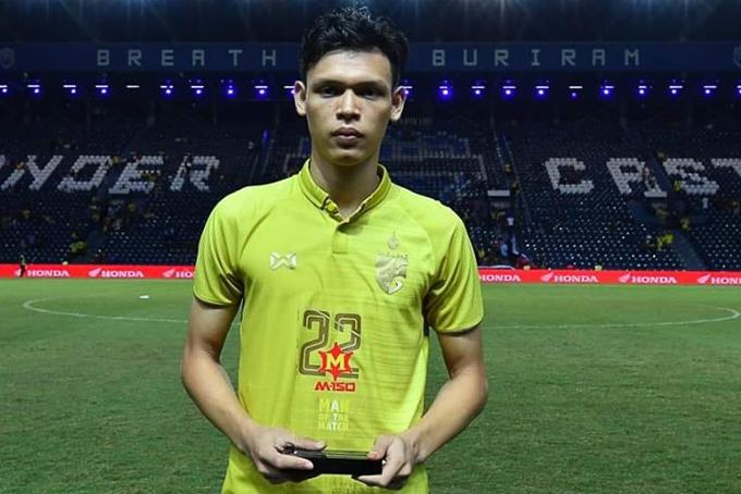 Cầu thủ Supachai xuất sắc nhất trận Việt Nam thắng Thái Lan: Niềm vui an ủi