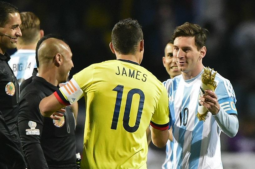 Colombia vs Argentina: James Rodriguez khiến Messi nóng mặt