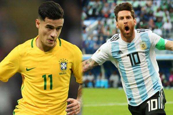 Lịch thi đấu bóng đá hôm nay 2/7: Bán kết Brazil vs Argentina (Copa America 2019)