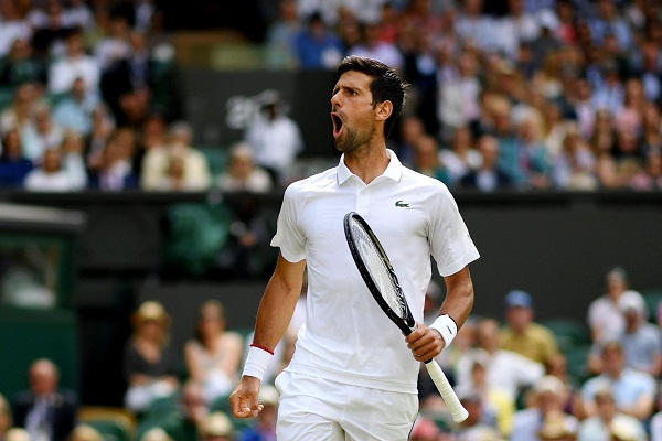 Novak Djokovic thẳng tiến vào vòng 2 Wimbledon 2019