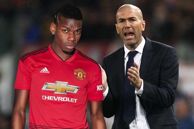 HLV Zinedine Zidane có thế rời Real Madrid vì... Paul Pogba