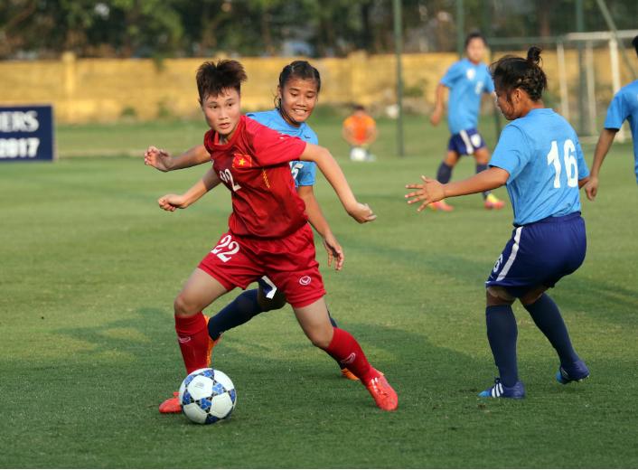 Nữ Việt Nam 10-0 nữ Campuchia: Thị uy sức mạnh