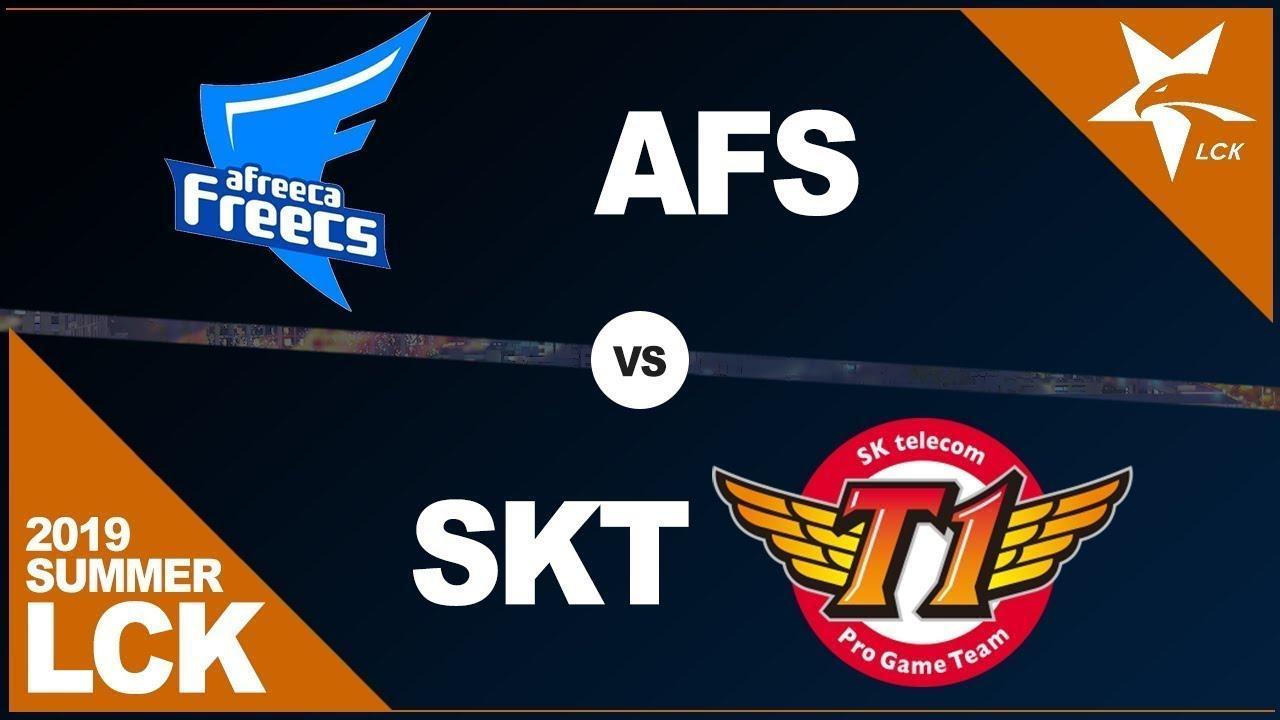 Lịch thi đấu play-off LCK Mùa Hè 2019: SKT vs AFs
