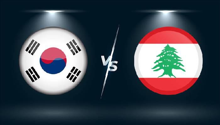 Xem trực tiếp Hàn Quốc vs Lebanon, 13h00 ngày 13/6