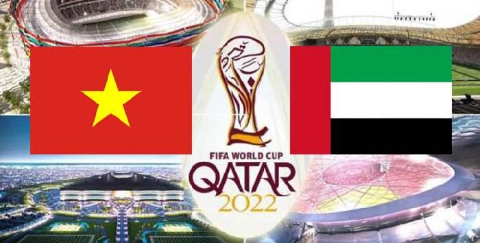 Tỷ lệ kèo bóng đá trận Việt Nam vs UAE vòng loại World Cup 2022