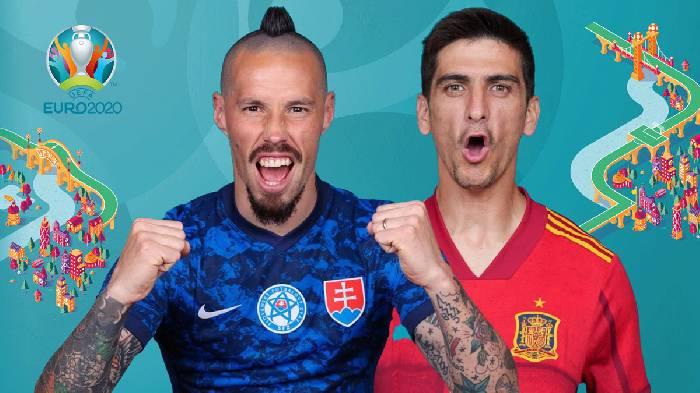 Link xem trực tiếp Slovakia vs Tây Ban Nha hôm nay 23h kênh nào?