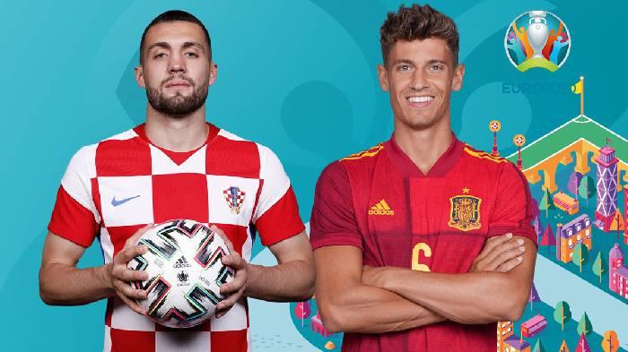 Link trực tiếp Croatia vs Tây Ban Nha hôm nay lúc 23h00 ngày 28/06