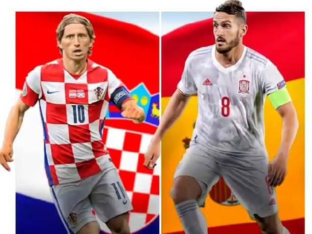 Tỷ lệ kèo bóng đá Euro Croatia vs Tây Ban Nha hôm nay lúc 23h00
