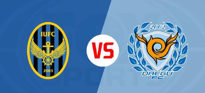 Link xem trực tiếp bóng đá Incheon United vs Daegu FC hôm nay