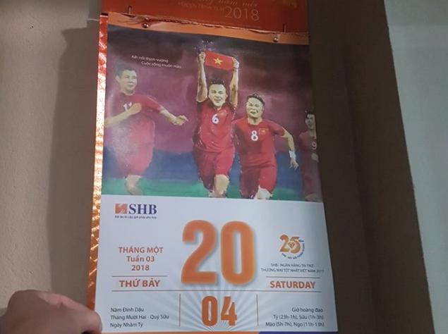 CHOÁNG: Tờ lịch tiên tri chuẩn xác 100% chiến thắng lịch sử của bóng đá Việt Nam