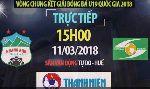 TRỰC TIẾP U19 HAGL vs U19 SLNA, 15h00 ngày 11/3, bảng B VCK U19 Quốc gia 2018