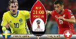 Nhận định Thụy Điển vs Thụy Sỹ, 21h00 ngày 03/7 (Vòng 1/8 World Cup 2018)