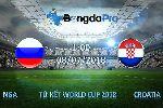 Nhận định vòng tứ kết World Cup 2018: Nga vs Croatia