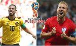 Kết quả đối đầu Anh vs Bỉ trước tranh giải 3 World Cup 2018