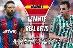 Nhận định Levante vs Real Betis, 2h30 ngày 25/4 (vòng 34 La Liga)