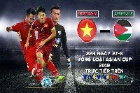 Trực tiếp vòng loại Asian Cup 2019 hôm nay (27/3): Jordan vs Việt Nam