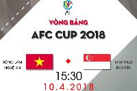 Lịch thi đấu bóng đá AFC Cup 2018 hôm nay 10/04: SLNA vs Tampines Rovers