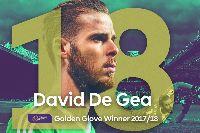 De Gea chính thức 'ẵm' danh hiệu Găng tay Vàng Ngoại hạng Anh mùa 2017/18