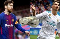 Messi hơn Ronaldo về kiếm tiền trong năm 2018