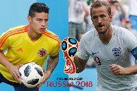 Lịch thi đấu World Cup hôm nay (3/7): Colombia vs Anh