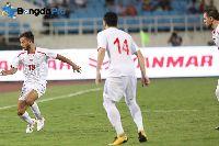 Kết quả U23 Hong Kong 1-1 U23 Palestine, bảng A ASIAD 2018