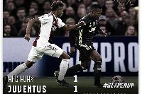 Kết quả Ajax 1-1 Juventus: Ronaldo rất tốt nhưng chưa đủ