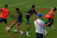 Video: Bị xâu kim, Neymar điên tiết túm cổ, quật ngã đàn em ở ĐT Brazil