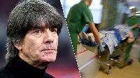 HLV Joachim Loew gặp tai nạn hi hữu ngay trước vòng loại Euro 2020