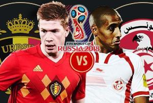Xem bóng đá trực tuyến World Cup: Bỉ vs Tunisia