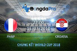 Nhận định bóng đá hôm nay (15/7): Pháp vs Croatia