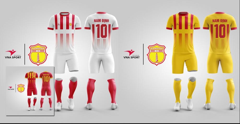 Mẫu áo đấu sân nhà, sân khách tại V.League 2018
