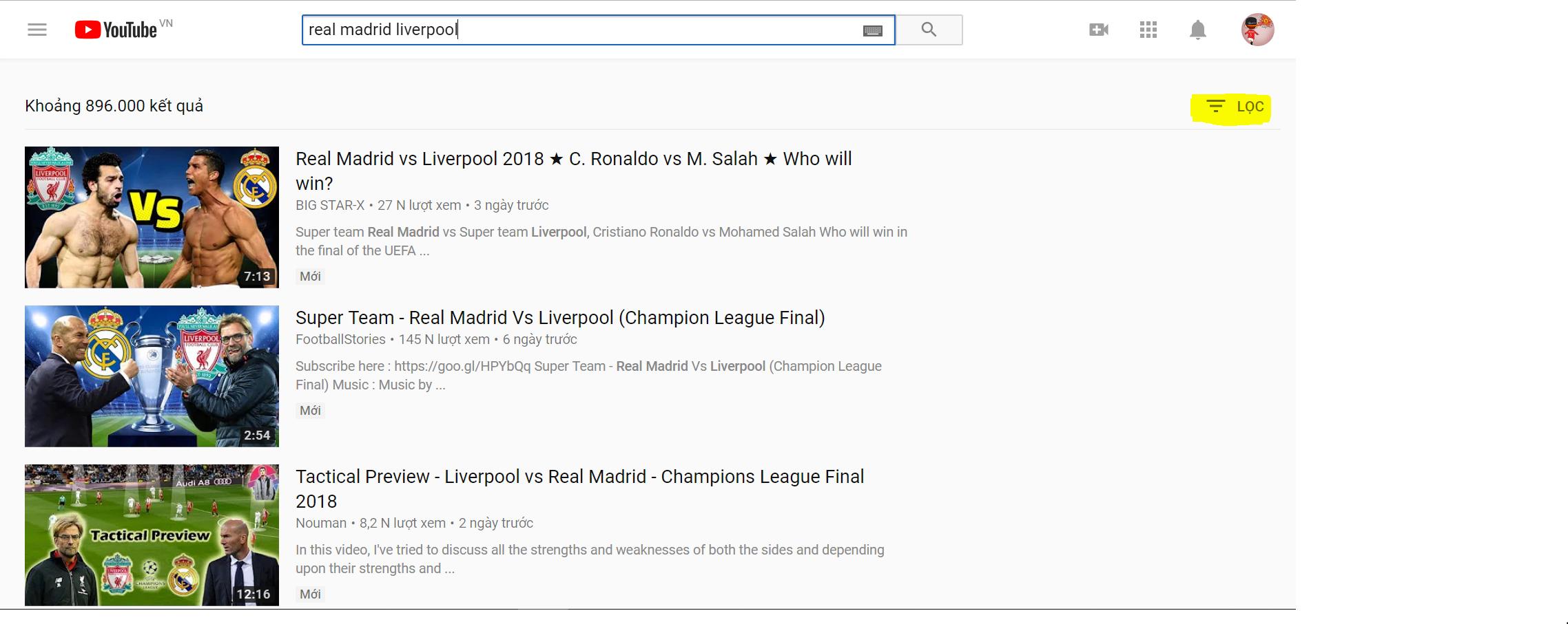 Xem chung kết C1 phát miễn phí trên Youtube