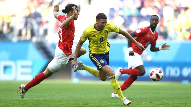 Thụy Điển vs Thụy Sĩ (1-0): Thụy Điển vào tứ kết xứng đáng