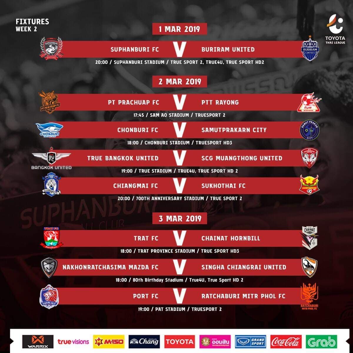 Trực tiếp Thai League 2019 trên kênh nào?