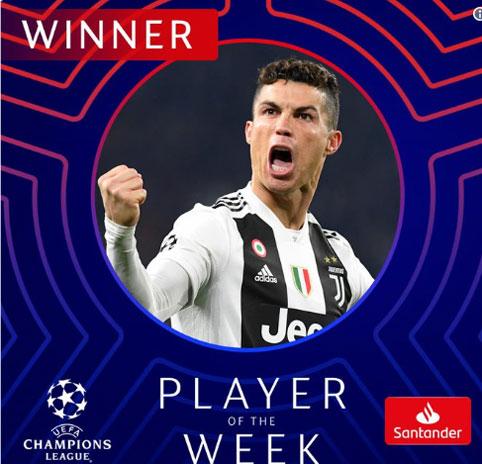 Ronaldo được vinh danh trước thềm vòng tứ kết UEFA Champions League