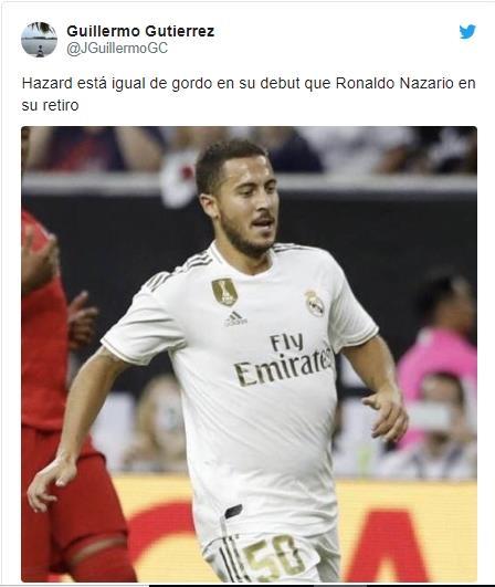 Eden Hazard gây thất vọng trong ngày ra mắt khi lộ bụng bia