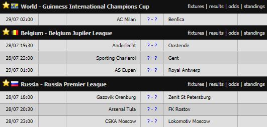 Lịch thi đấu bóng đá hôm nay 28/7: Liverpool vs Napoli