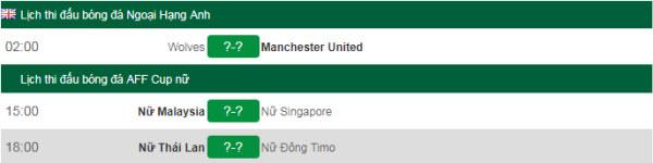 Lịch thi đấu bóng đá hôm nay 19/8: Wolverhampton vs Manchester United