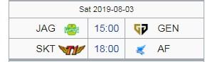 Lịch thi đấu LCK mùa hè 2019 hôm nay 3/8: Đại chiến SKT vs AF